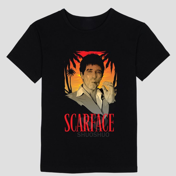 New Tony Montana T Shirts Men Scarface T-Shirt What you see is what you