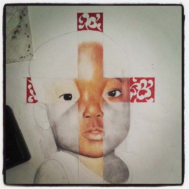 Just a few more steps #wip #art #artist #drawing #dessin #hyperrealism #photorealism #goldleaf #gold #bébé #graphite #baby #coloredpencil #christianity #crucifix #cross #croix #christ #selfie #whycantisleep / http://www.contactchristians.com/just-a-few-more-steps-wip-art-artist-drawing-dessin-hyperrealism-photorealism-goldleaf-gold-bebe-graphite-baby-coloredpencil-christianity-crucifix-cross-croix-christ-selfie-whycant/