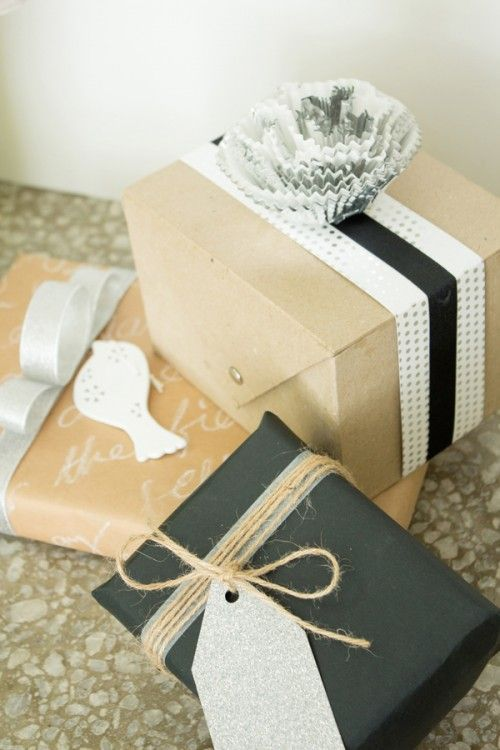 Black & kraft Christmas wrapping ideas - for IGA Supermarkets