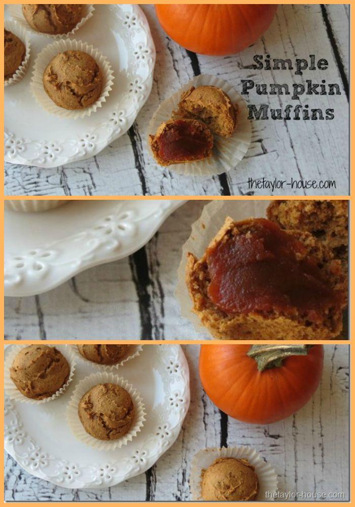 Simple TWO Ingredient Pumpkin Muffins