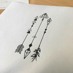 Three arrows tattoo - own design