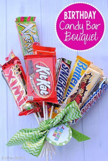 Birthday Candy Bar Bouquet