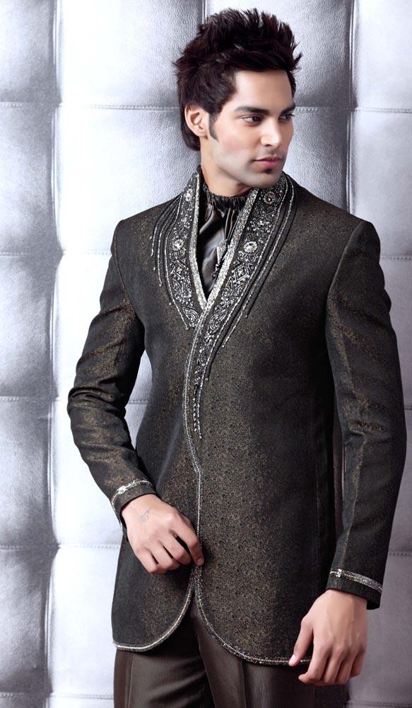 Grey Jothpuri Suit