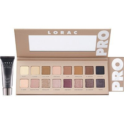 Go PRO with LORAC PRO Palette 3! The third edition to Lorac's original, best-selling PRO Palette, this PRO artistry palette is packed with 8 shimmer and 8 matte eyeshadows in all the soft and feminine shades you need to create the hottest looks straight from the Red Carpet. Lorac's velvety-smooth shadows are infused with soothing botanicals and are ultra-pigmented to perform wet or dry so you can shade, shadow, line and define your eyes, just like a PRO.