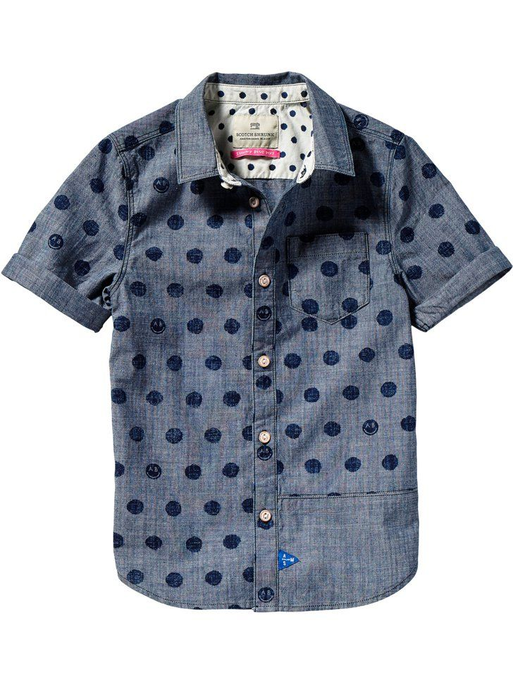 Pin for Later: Everything Your Emoji-Loving Kiddo Needs For Back to School Printed Chambray Shirt Printed Chambray Shirt ($42, originally $84)