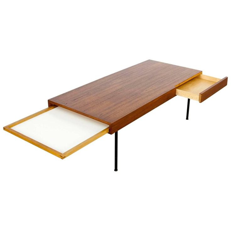 Teak Coffee Table 4652 by George Nelson, Herman Miller | From a unique collection of antique and modern coffee and cocktail tables at https://www.1stdibs.com/furniture/tables/coffee-tables-cocktail-tables/