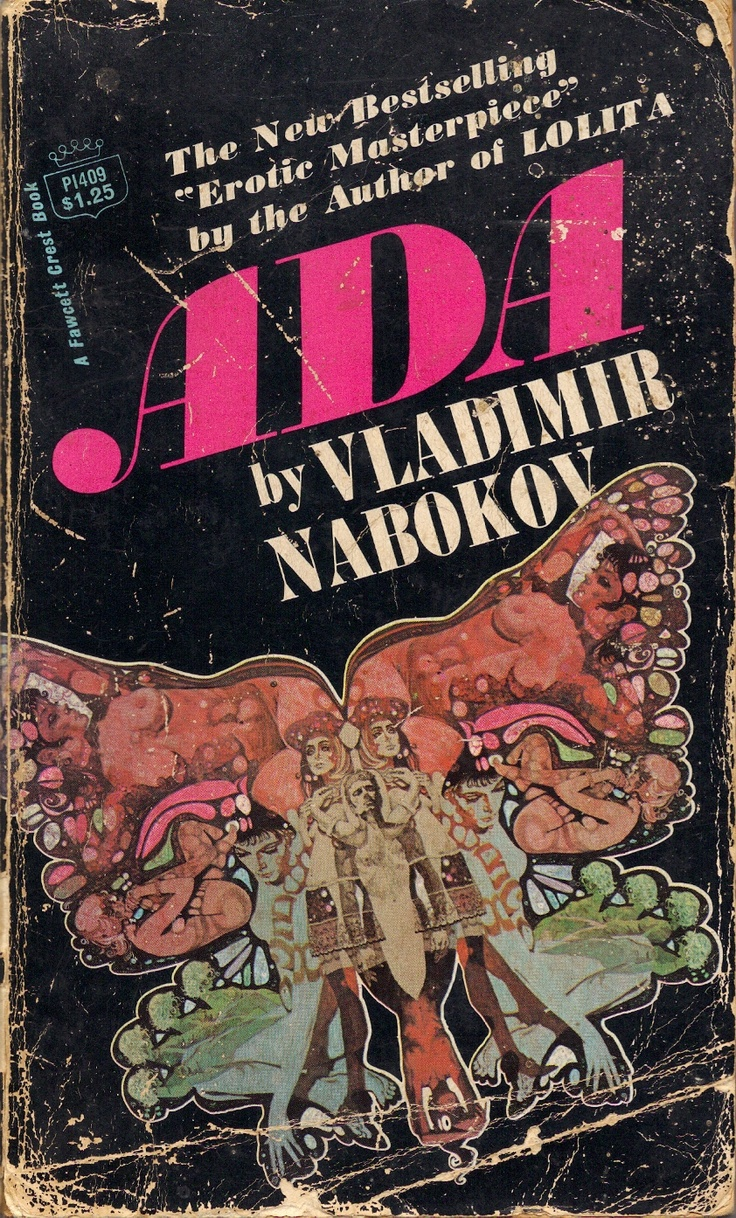 Cover by Ted CoConis of Ada by Vladimir Nabokov (Fawcett Crest, 1970)