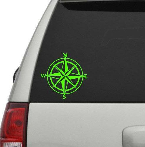 Nautical Compass Decal Vinyl Decal Compass Car Decal