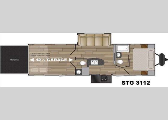 Floorplan - 2016 Stryker STG-3112 Toy Hauler Travel Trailer
