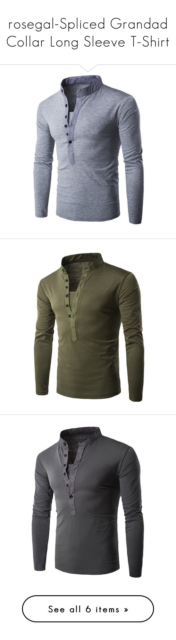"""""""rosegal-Spliced Grandad Collar Long Sleeve T-Shirt"""" by fshionme ❤ liked on Polyvore featuring men's fashion, men's clothing, men's shirts, men's t-shirts, mens longsleeve shirts, mens collared shirts, mens grandad collar shirt, mens long sleeve shirts, mens long sleeve collared shirts and mens long sleeve t shirts"""