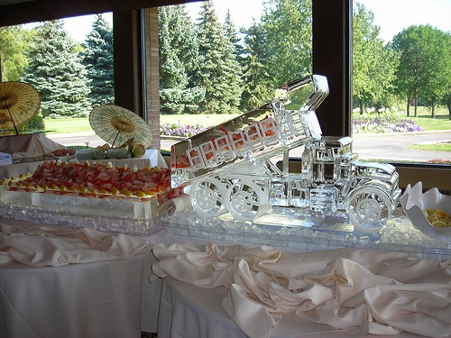 Dump Truck with Shrimp Ice Sculpture  _Weddings _Events _Corporate Event _Food Display _Shrimp _Seafood