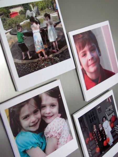 DIY-Photo magnets: Hello Paper, Polaroid Photos, Photo Magnets, Gift Ideas, Paper Moon, Crafts Diy, Craft Ideas, Crafty Ideas