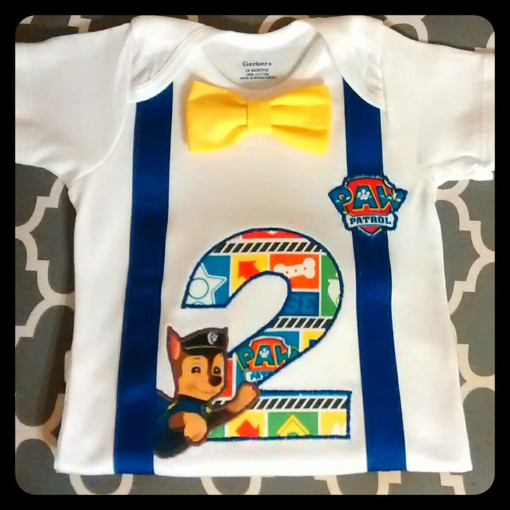 Boy Paw Patrol Birthday SHIRT or ONESIE Only...with Detachable BowTie, number, Embroidered Name, Faux suspenders 1st 2nd 3rd 4th 5th Chase by WhimzicalExpressions on Etsy https://www.etsy.com/listing/294951169/boy-paw-patrol-birthday-shirt-or-onesie