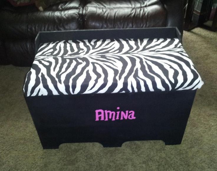 It Is A Storage Box/toy Box With A Padded Zebra Print Seat U0026 Has