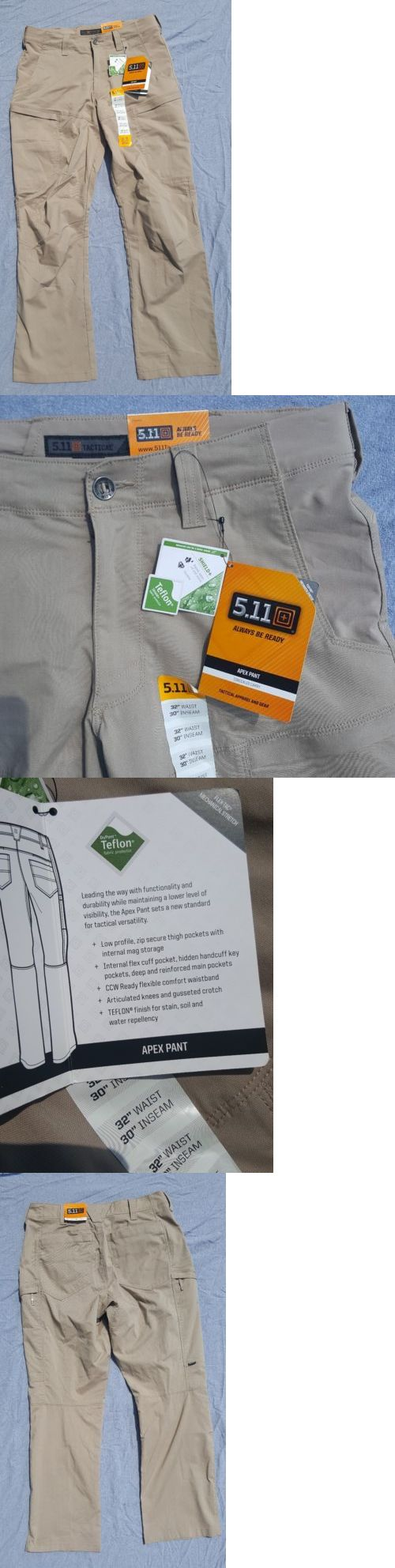 Tactical Clothing 177896: 511 Tactical 74434 Apex Pant Khaki 32 X 30 New With Tags. -> BUY IT NOW ONLY: $59.99 on eBay!