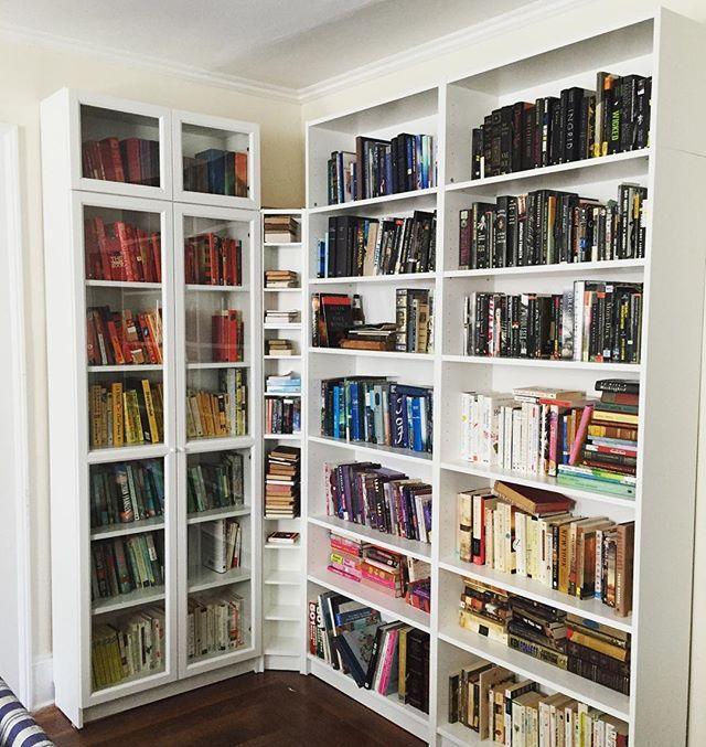Part II: Unpack the Books. #bookshelves #booklover #bookcases #bookworm #billybookcase #book #books #bookstagram #booknerd #bookshelf #shelfie #ikea #bookporn #booksofinstagram #bibliophile