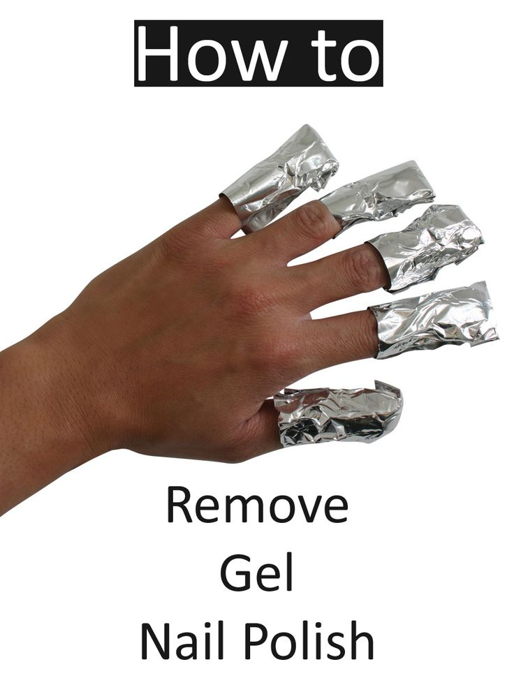 How To Get Rid Of Gel Nail Polish At Home - step by step tutorial