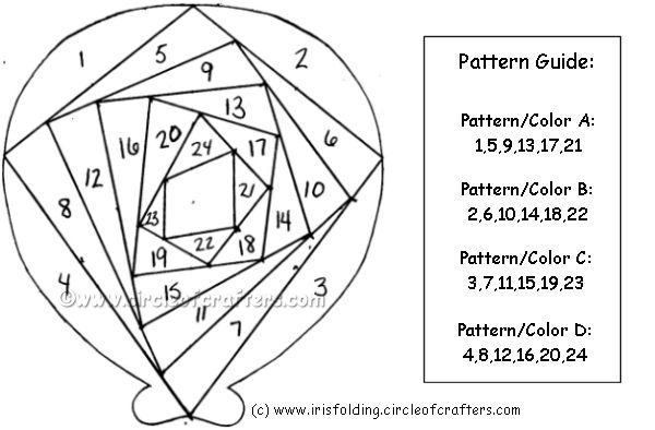 iris fold balloon pattern -from CircleOfCrafters.com