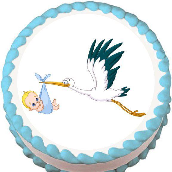 Stork Cake Topper Baby Shower