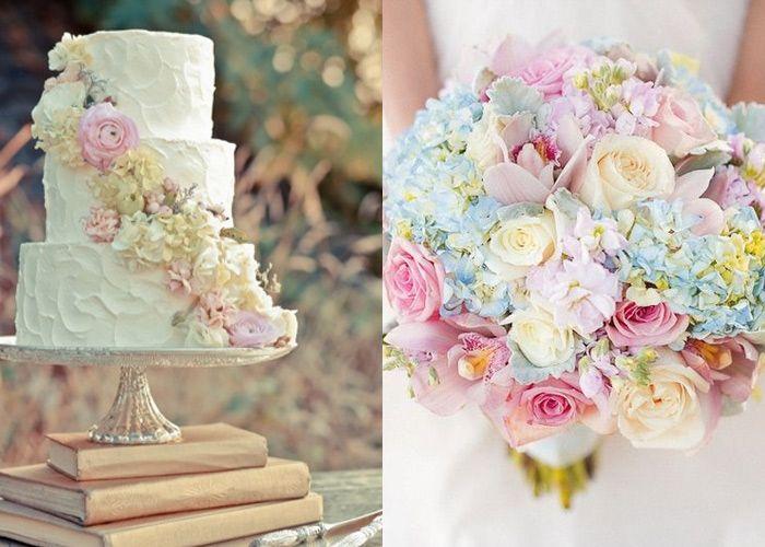 cores do buquê dá para usar nas flores das mesas