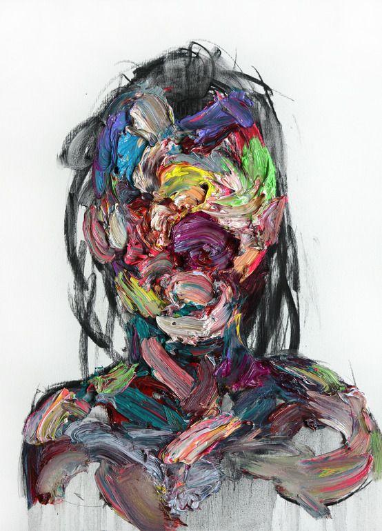 "2headedsnake: "" KwangHo Shin (96) untitled, 2013, oil &charcoal on canvas (101) untitled, 2013, oil & charcoal on canvas """