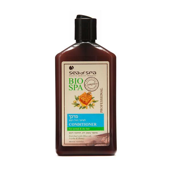 Odżywka do włosów normalnych i suchych wzbogacona o olej z oliwy , jojobę, miód. Odżywka do włosów jest wzbogacona w naturalne i aktywne minerały z Morza Martwego, olej z oliwy, jojobę i miód. Odżywka nawilża włosy i chroni je przed szkodliwymi warunkami atmosferycznymi. Pozostawia na włosach delikatny i przyjemny zapach, powodując że włosy będą zdrowsze oraz lśniące.