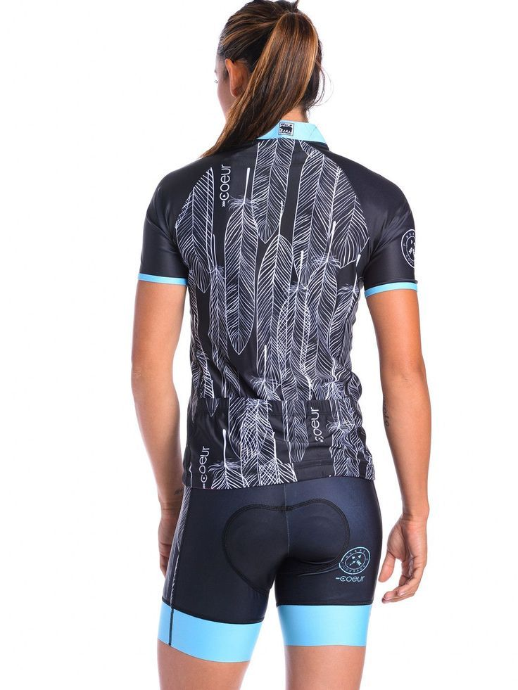 Women's Cycling Jersey in Lakota Our women's cycling jerseys fit and flatters feminine curves. Silicone gripper at the rear hem means it won't ride up when you are in your handlebars. They have three