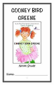 Gooney Bird Greene (Lois Lowry) Novel Study / Reading Comprehension * Follows Common Core Standards *  This 24-page booklet-style Novel Study is designed to follow students throughout the entire book.  The questions are based on reading comprehension, strategies and skills. The Journal is designed to be enjoyable and keep the students engaged.