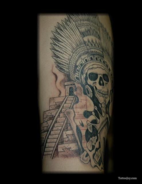 12 best aztec tattoo designs skull smoke images on pinterest aztec tattoo designs aztec art. Black Bedroom Furniture Sets. Home Design Ideas