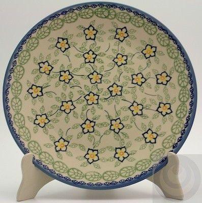 "Polish Pottery - 10"" Dinner Plate - Sunrise Jasmine   The Polish Pottery Outlet"