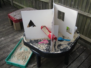 """Sectioning the sensory table ("""",)"""