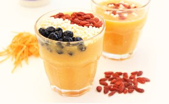 Oranje smoothie recept | Blog | Body en fit | bodyenfitshop.nl