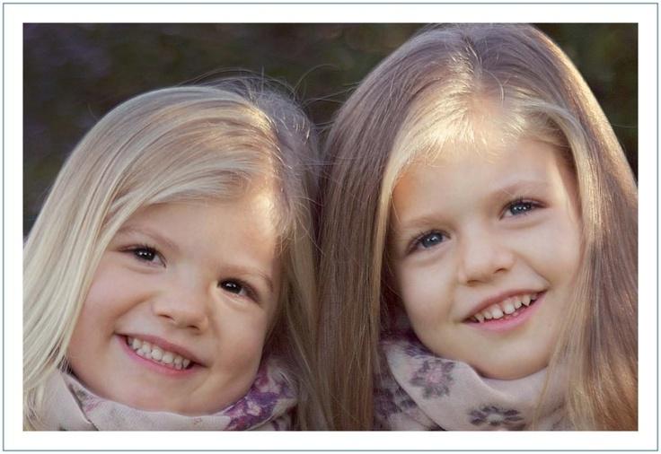 Infanta Leonor and Infanta Sofia, daughters of Prince Felipe and Princess Letizia of Spain so cute