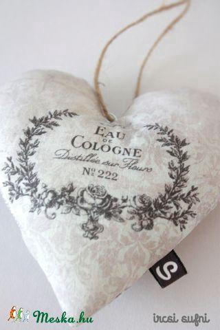 Meska - Vintage szív No.2. ircsisufni kézművestől  #heart #sewing #vintage #homedcor