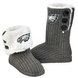 Stay comfy & warm with #Eagles Women's Button Knit Boots. $39.99. my mom would like these!