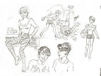 """Model sheets by Dan Decarlo for Penthouse magazines """"Pets"""" cartoon strip."""