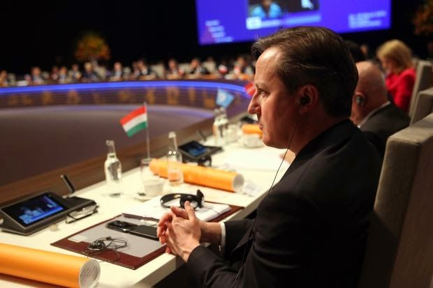 British Prime Minister David Cameron attends the opening session of the Nuclear Security Summit