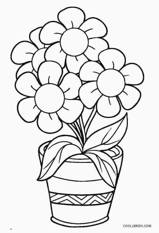 Colouring Pictures Of Flower Pots Spring Coloring Pages Flower