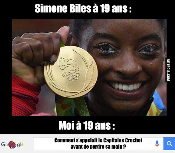 Simone Biles à 19 ans : - Be-troll - vidéos humour, actualité insolite