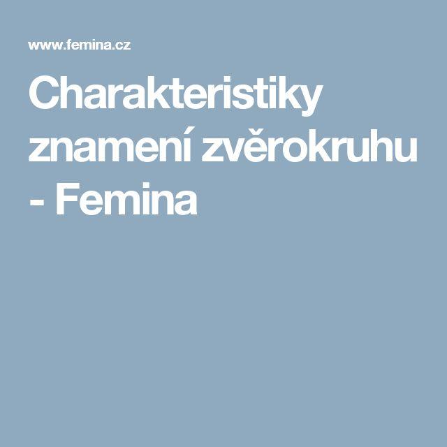 Charakteristiky znamení zvěrokruhu - Femina
