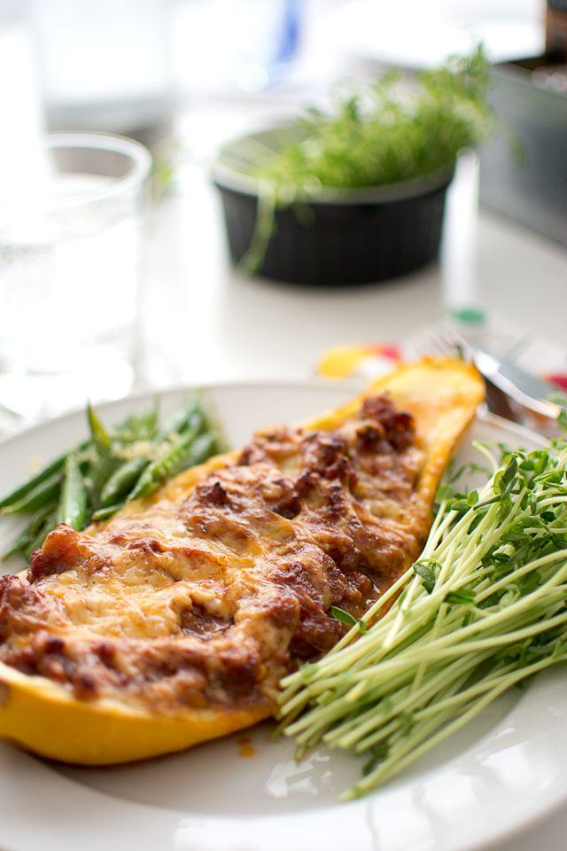 Salsicciafylld zucchini