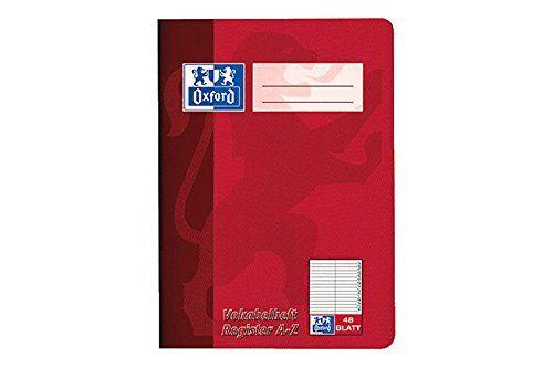 Oxford 384504855/100302812 Vokabelheft, A5, 48 Blatt, rot, gr�n