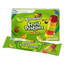 2pp per lolly - Rowntrees Fruit Pastilles Lollies 4 X 65Ml