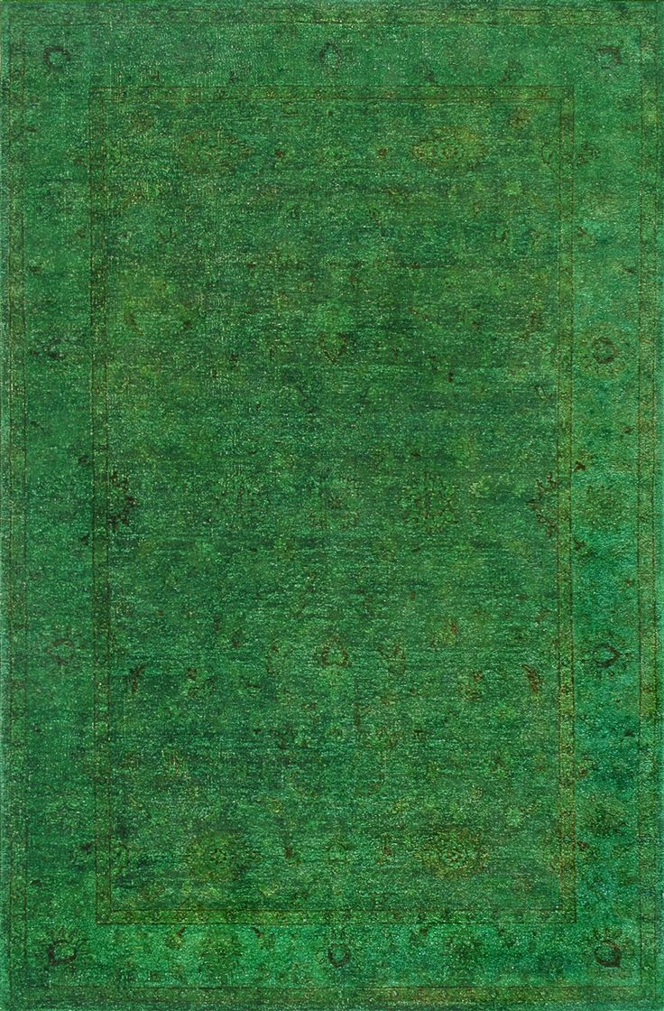 Rugsville Overdyed Forest Green Rug 11057 To Buy