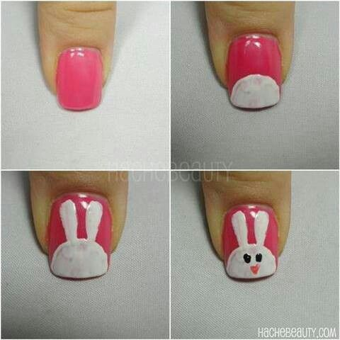 Nail art: Cute bunny!