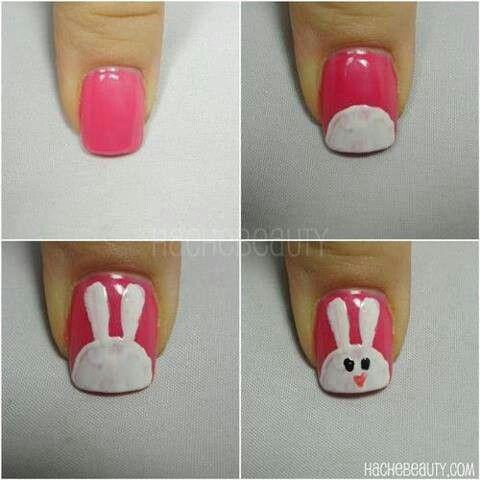 Nail art: Cute bunny!