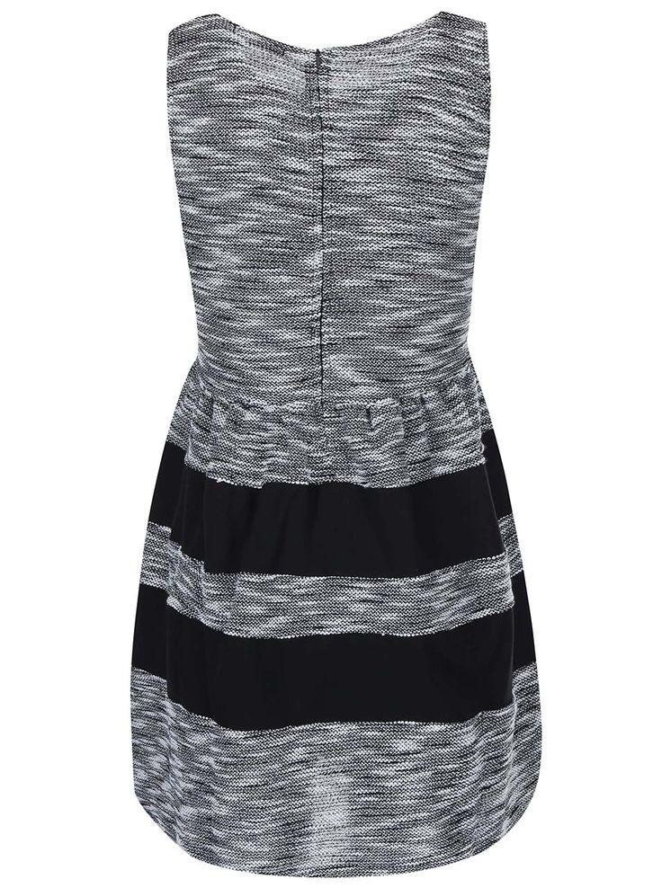 Čierno-sivé žíhané šaty Haily´s Giorgia