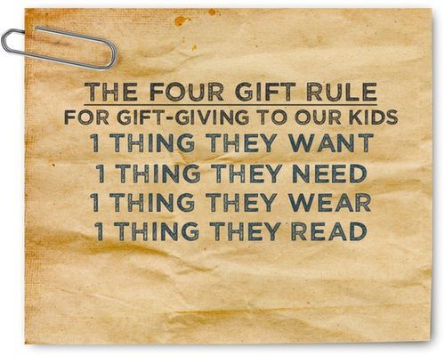 Gift rule - kind of like this.....