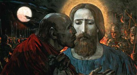 judas kissing jesus