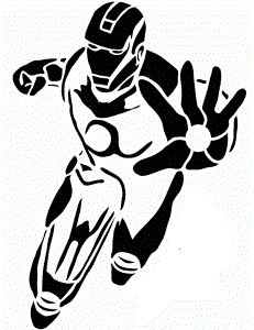 Iron Man pumpkin stencil